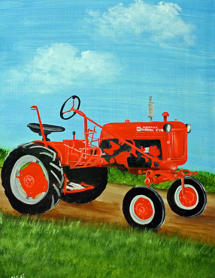 Farmall Tractor Painting : Farmall cub tractor painting by darlene prowell