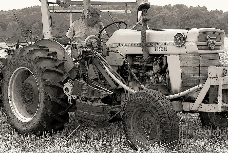 Farmer Photograph - Farmer And His Tractor by Kathleen Struckle