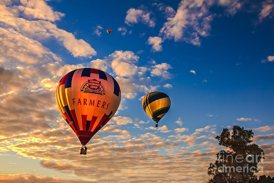 Farmers Insurance Hot Air Ballon Photograph  - Farmers Insurance Hot Air Ballon Fine Art Print