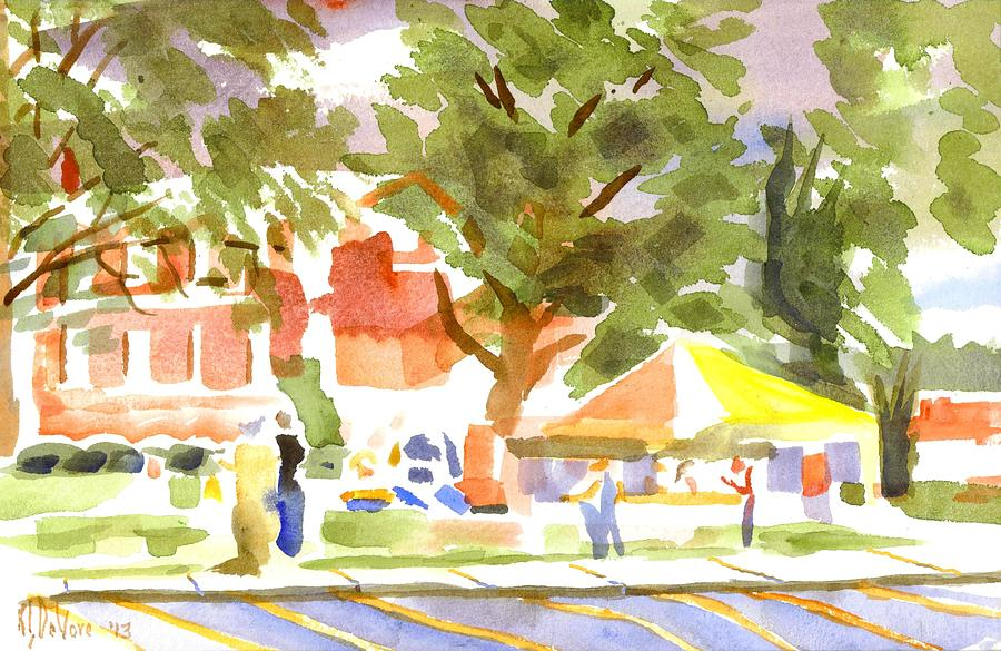 Farmers Market Ironton Missouri Painting