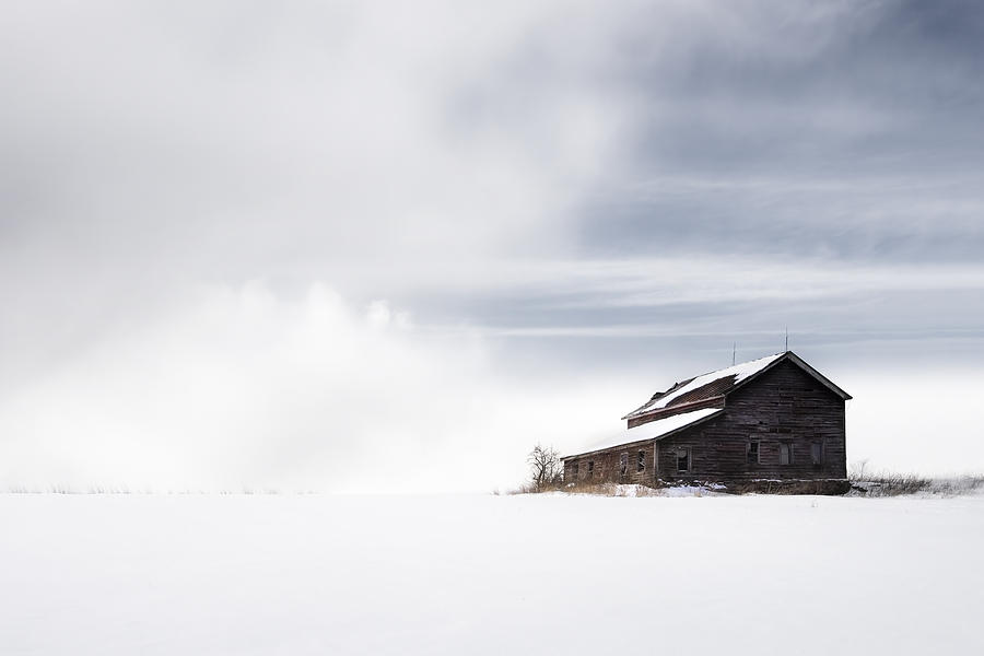 Landscape Photograph - Farmhouse - A Snowy Winter Landscape by Gary Heller