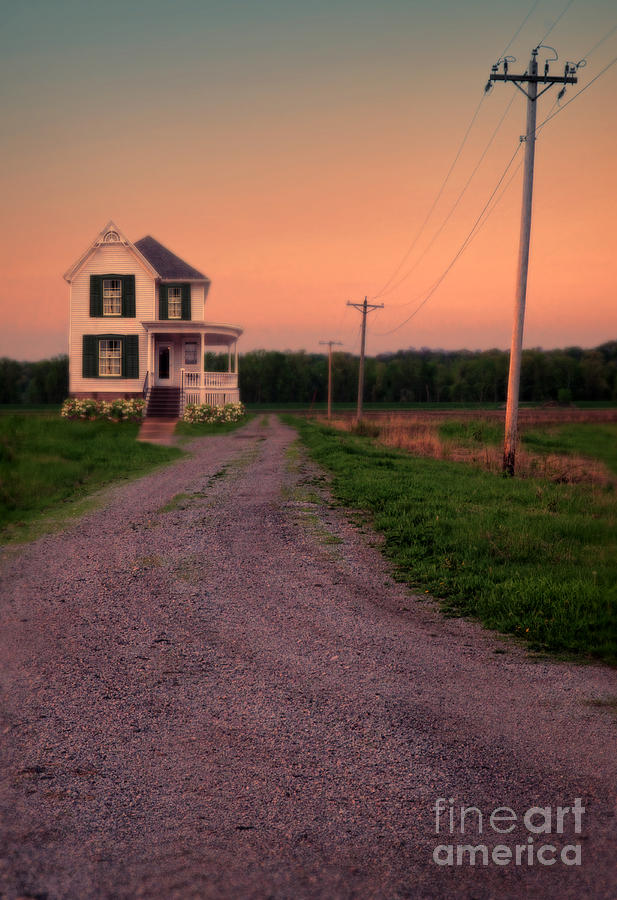 Farmhouse On Gravel Road Photograph
