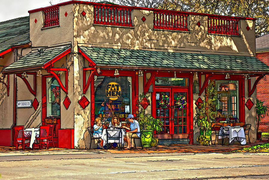 Fat Hen Grocery Painted Photograph