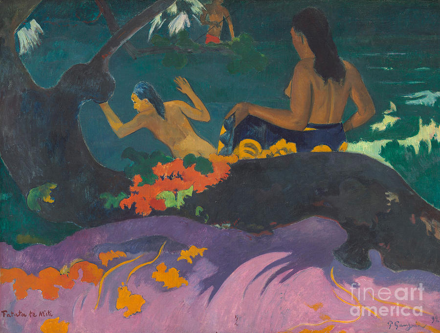 By The Sea Painting - Fatata Te Miti  by Paul Gauguin