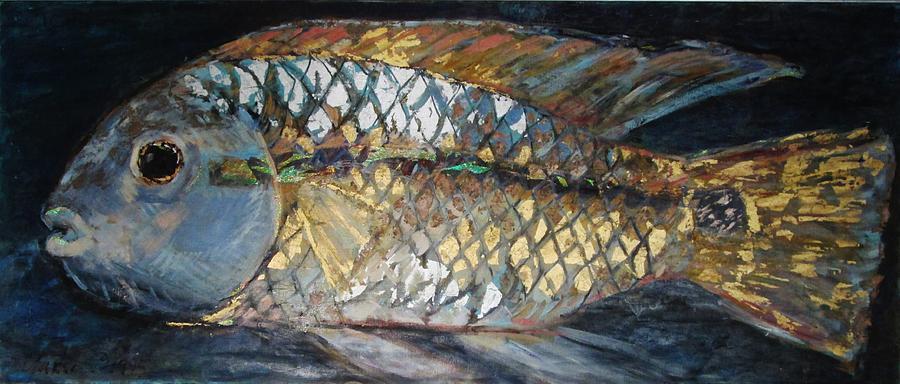 Fatboy Cichlid Painting