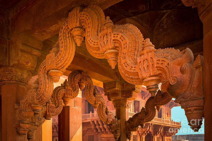 Agra Photograph - Fatehpur Sikri Detail by Inge Johnsson