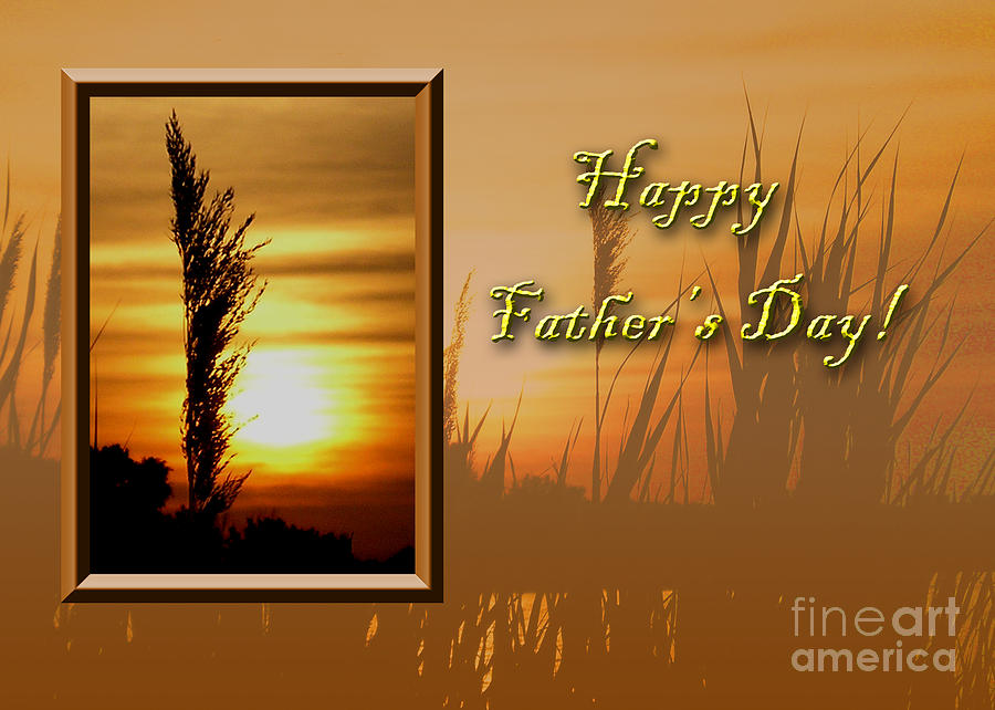 Orange Photograph - Fathers Day Sunset by Jeanette K