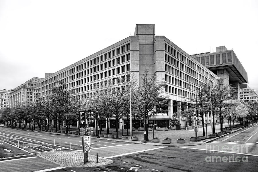 Fbi Building Front View Photograph  - Fbi Building Front View Fine Art Print