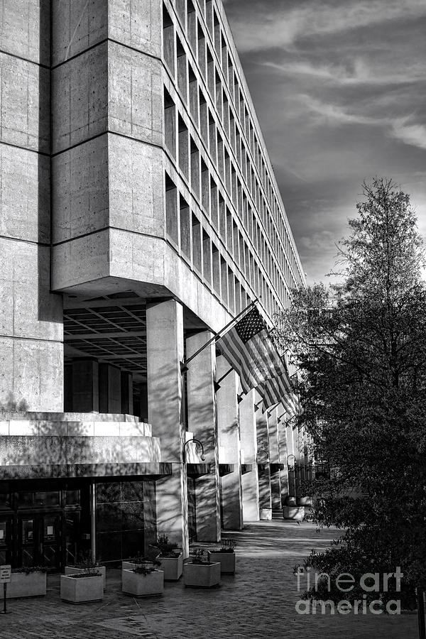 Fbi Photograph - Fbi Building Modern Fortress by Olivier Le Queinec
