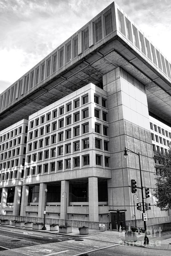 Fbi Photograph - Fbi Building Rear View by Olivier Le Queinec