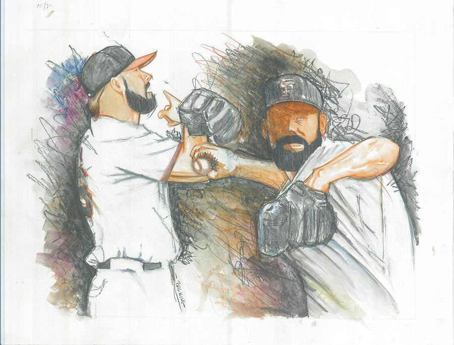 Fear The Beard World Champs Painting  - Fear The Beard World Champs Fine Art Print