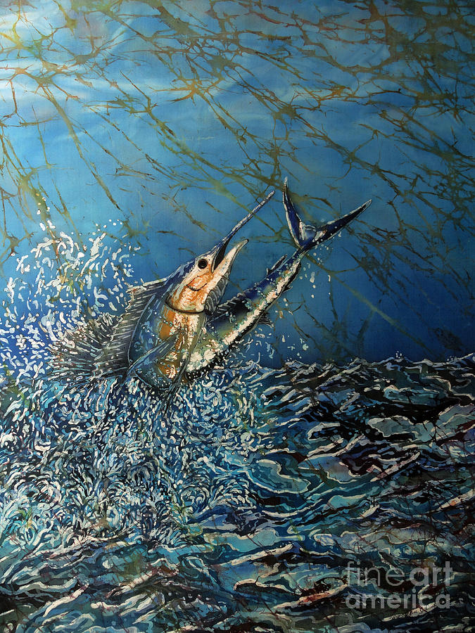 Sailfish Painting - Fearless  by Sue Duda