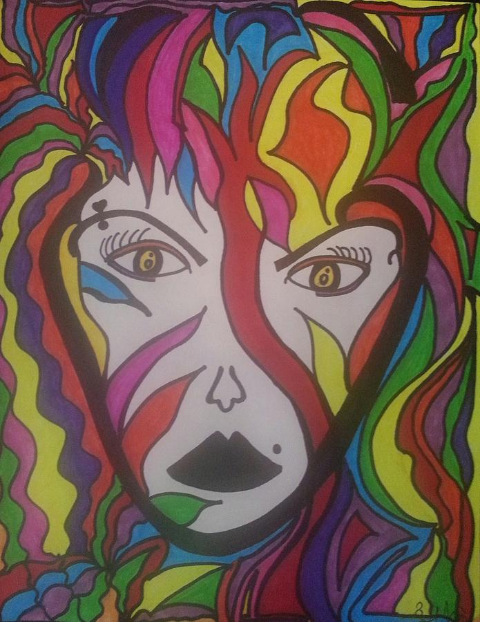 Drawing - Fearless Woman by Felicia Anguiano
