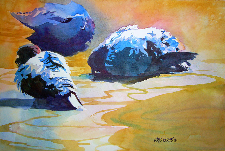 Kris Parins Painting - Feather Light by Kris Parins