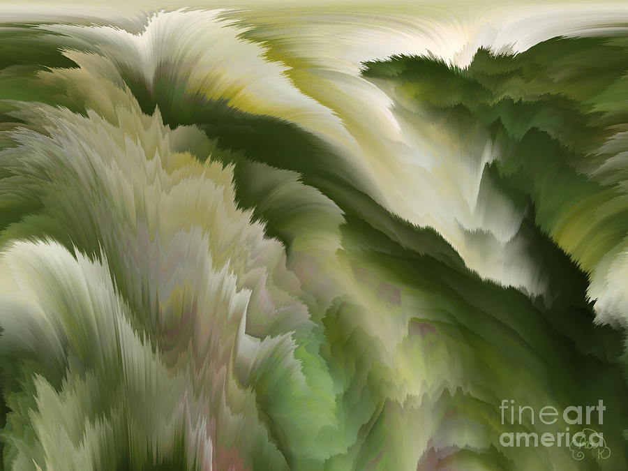 Feathered Hills And Valleys Digital Art  - Feathered Hills And Valleys Fine Art Print
