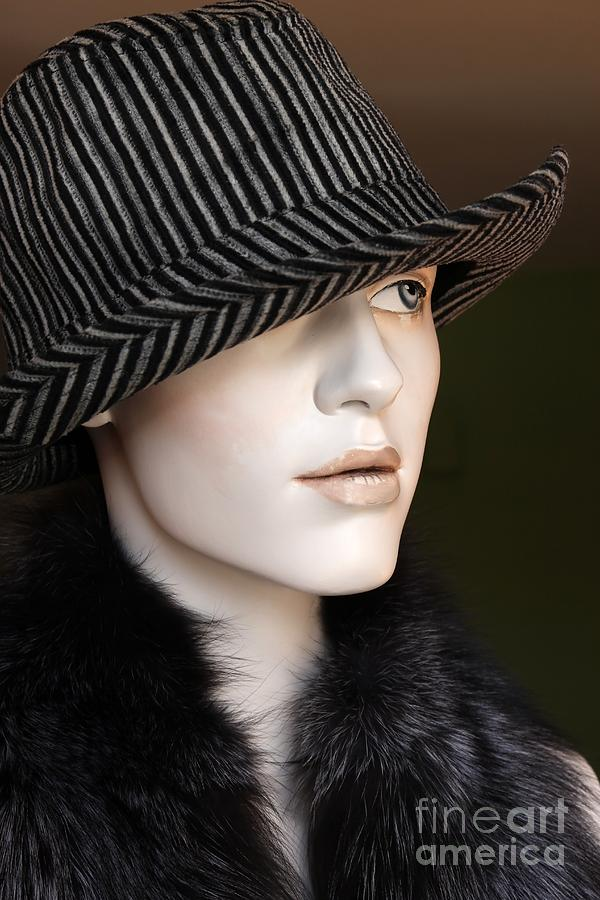 Mannequin Photograph - Fedora And Fur by Sophie Vigneault