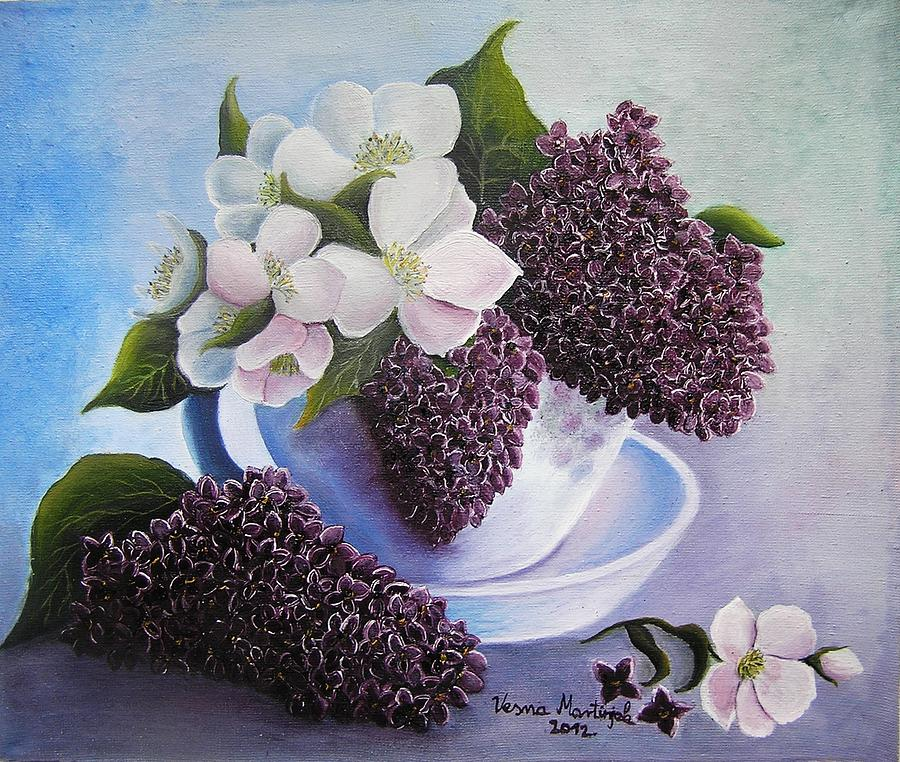 Feel The Fragrance Painting  - Feel The Fragrance Fine Art Print