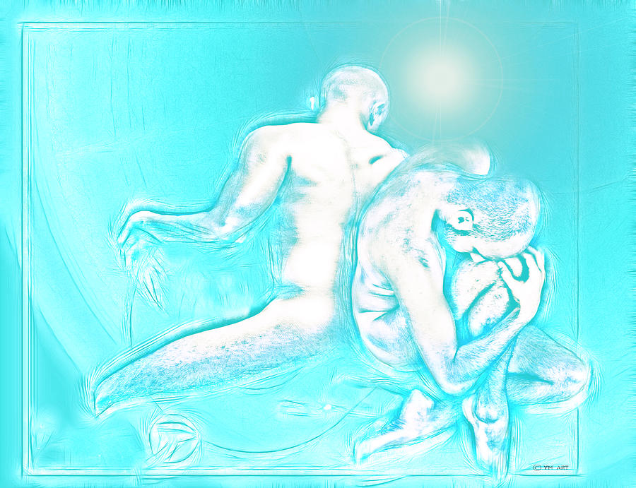 Feeling Blue Together  Digital Art  - Feeling Blue Together  Fine Art Print