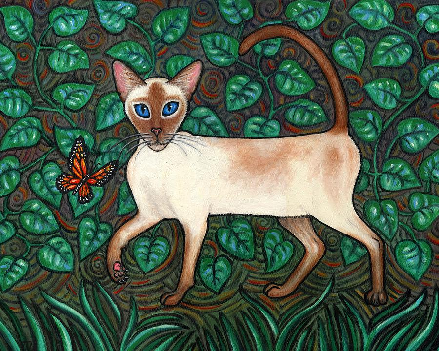 Felina And The Monarch Painting  - Felina And The Monarch Fine Art Print