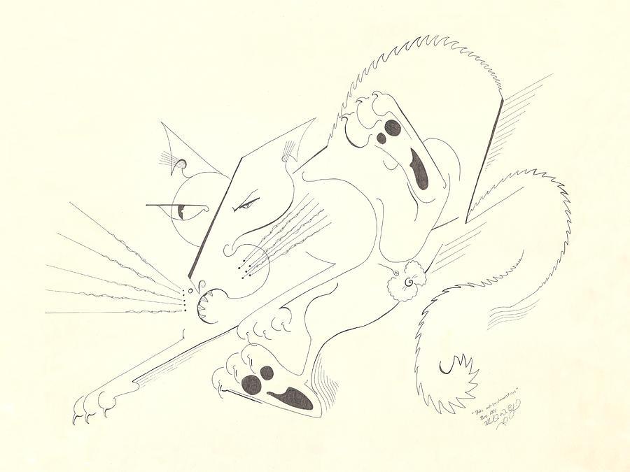 Felis Not So Domesticus Drawing - Felis Notsodomesticus by Melinda Dare Benfield