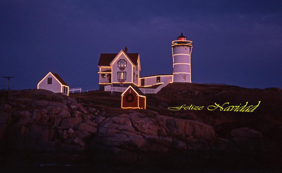 Felize Navidad Nubble Photograph
