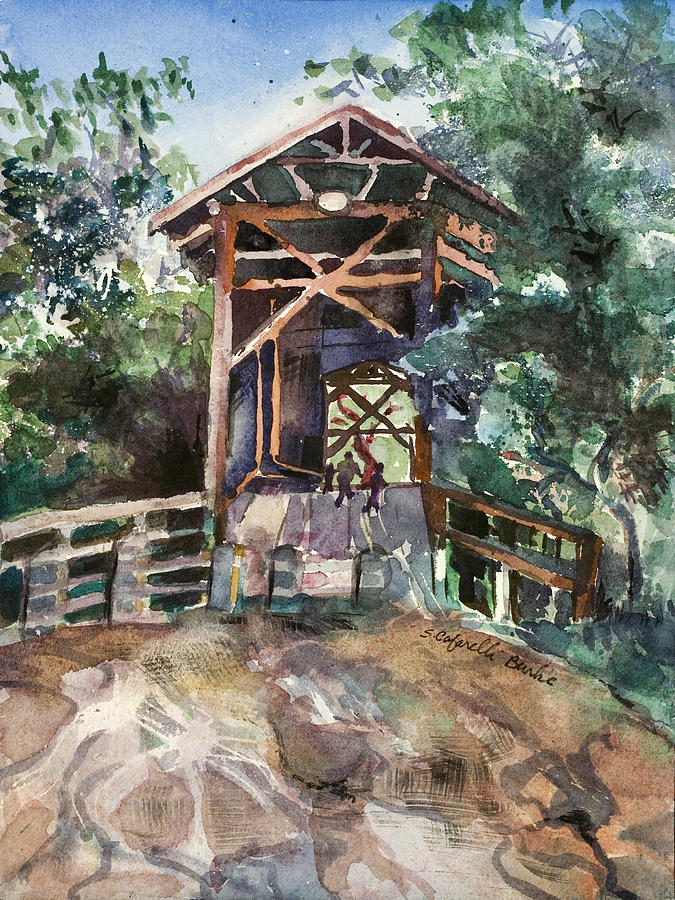 Felton Covered Bridge Painting  - Felton Covered Bridge Fine Art Print