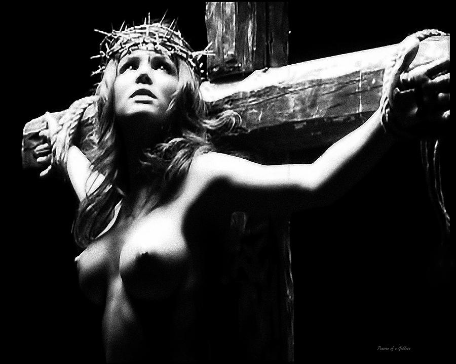 Female Christ Black And White Photograph  - Female Christ Black And White Fine Art Print
