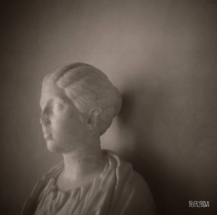 Rome Photos Photograph - Female Statue With Broken Nose by Beverly Brown