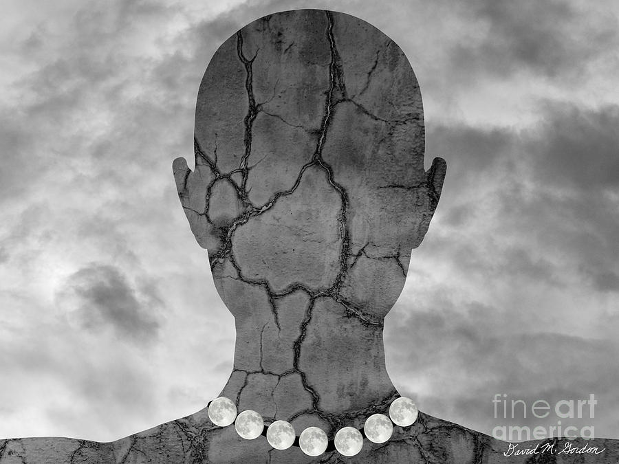 Feminine Figure With Moon Necklace Photograph  - Feminine Figure With Moon Necklace Fine Art Print