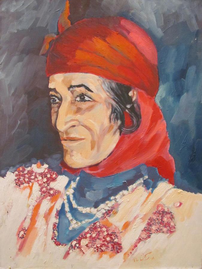 Femme Berbere Painting