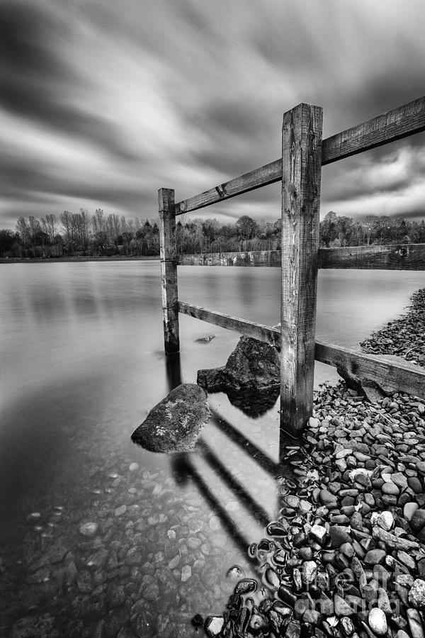 Fence In The Loch  Photograph  - Fence In The Loch  Fine Art Print