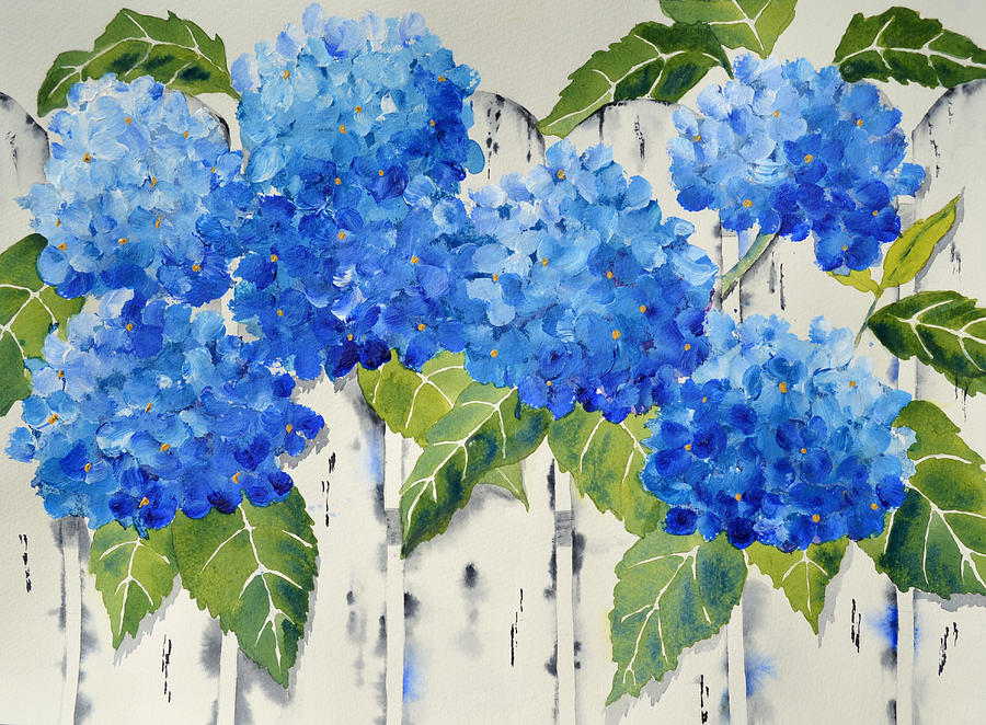 Fenced In Flowers Painting By Carol Bruno