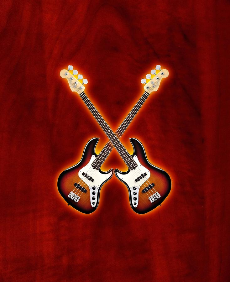 Fender Jazz Bass Lefty Digital Art