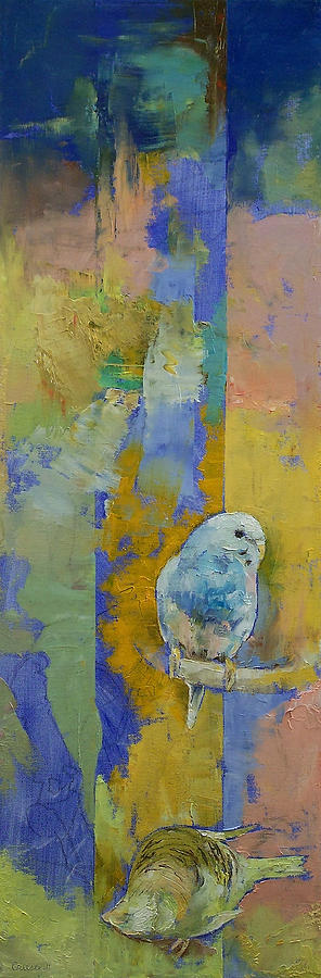 Feng Shui Parakeets Painting