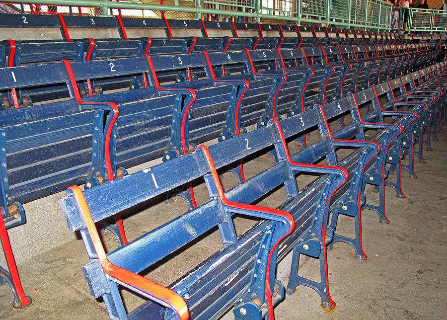 Fenway Blues Seats Photograph
