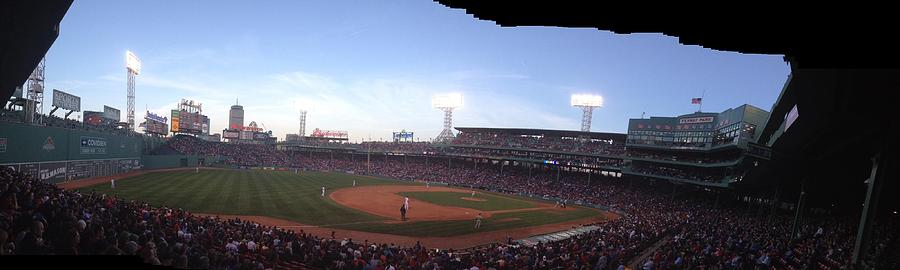 View From 3rd Base Stands Photograph - Fenway by Jim Keller