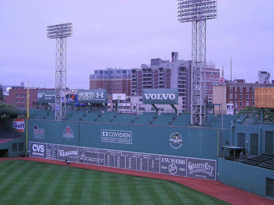 Fenway Left Field Photograph