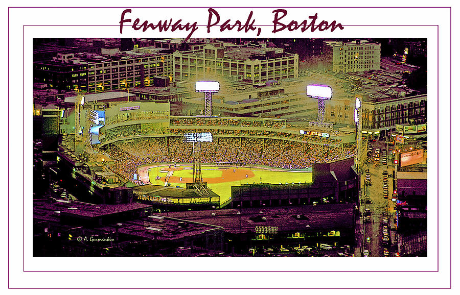 Fenway Park Boston Massachusetts Digital Art Photograph  - Fenway Park Boston Massachusetts Digital Art Fine Art Print