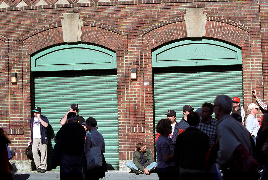 Fenway Park - Fans And Locked Gate Photograph