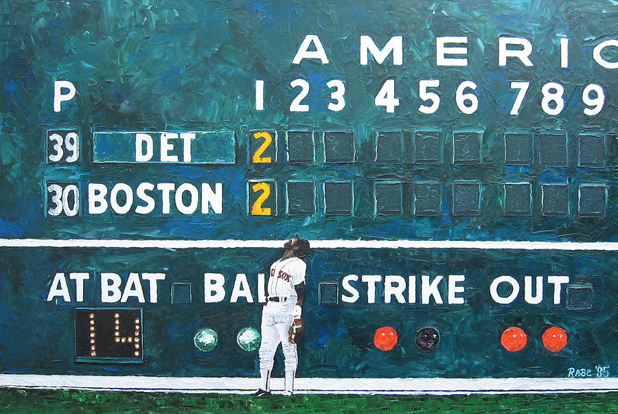 Fenway Park - Green Monster Painting  - Fenway Park - Green Monster Fine Art Print
