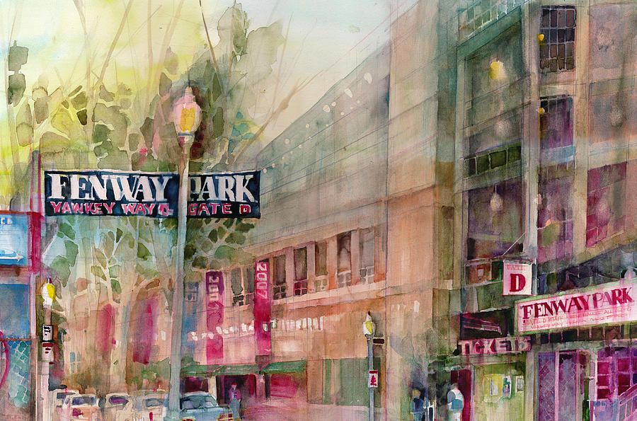 Fenway Park Home Of The World Champs Red Sox Painting
