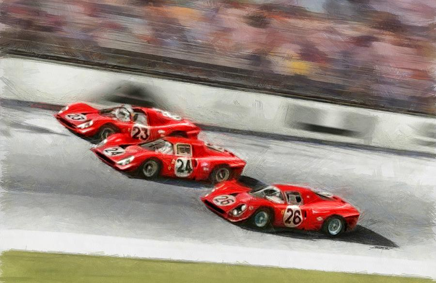 Ferrari 1967 Daytona Painting by Tano V-Dodici ArtAutomobile