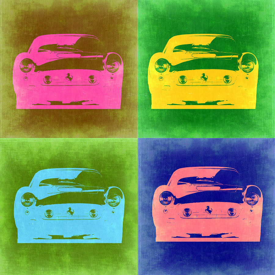 Ferrari Front Pop Art 3 Painting