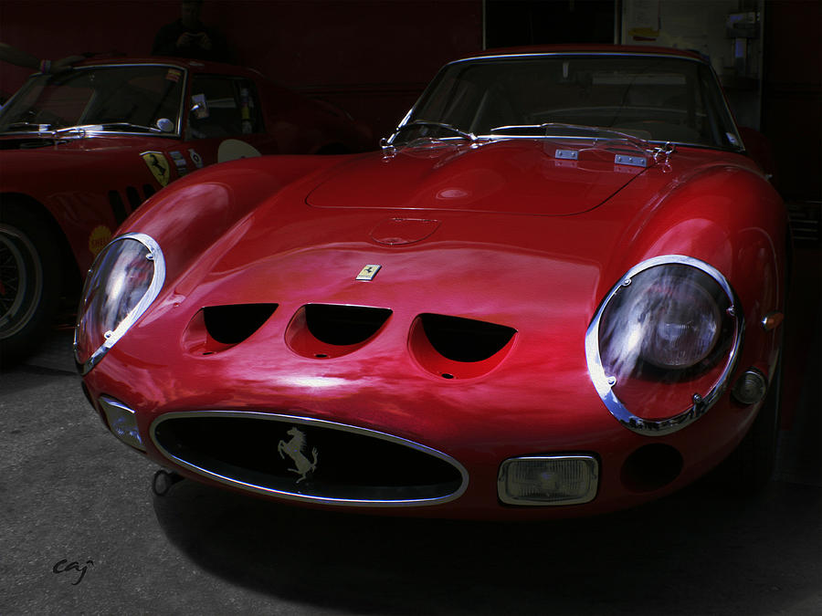 Ferrari Gto Frontal Digital Art  - Ferrari Gto Frontal Fine Art Print