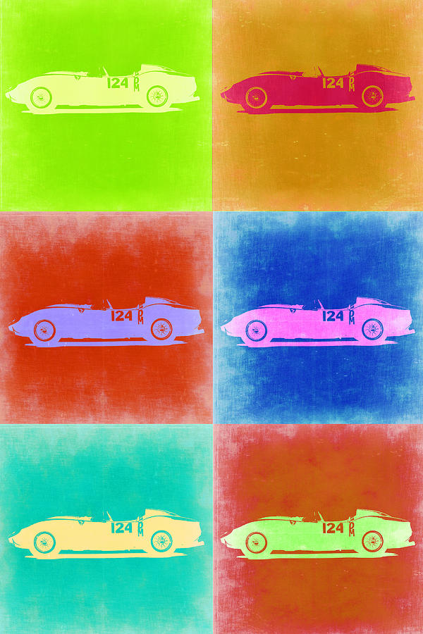 Painting - Ferrari Testarossa Pop Art 2 by Naxart Studio