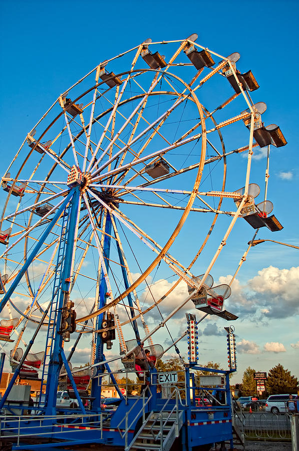 Ferris Wheel Photograph  - Ferris Wheel Fine Art Print