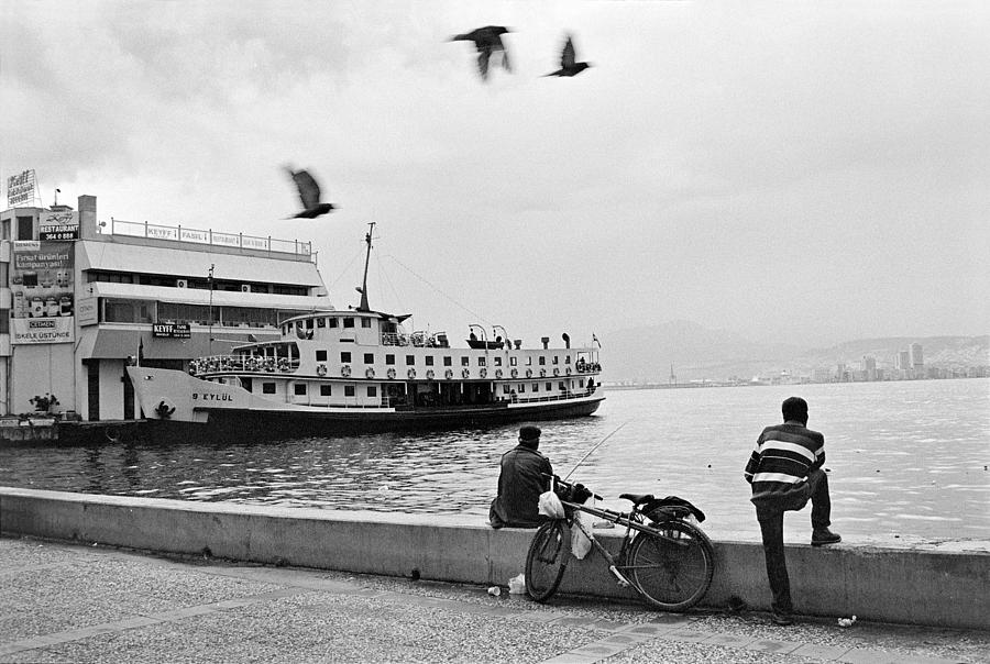 Ferryboat In Karsiyaka Port In Izmir Photograph  - Ferryboat In Karsiyaka Port In Izmir Fine Art Print