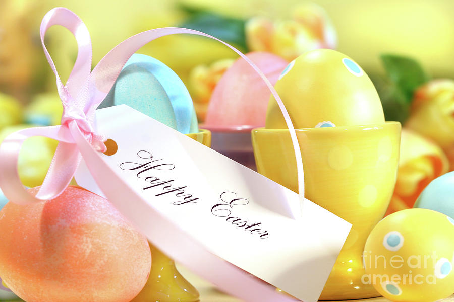Festive Easter Eggs Photograph