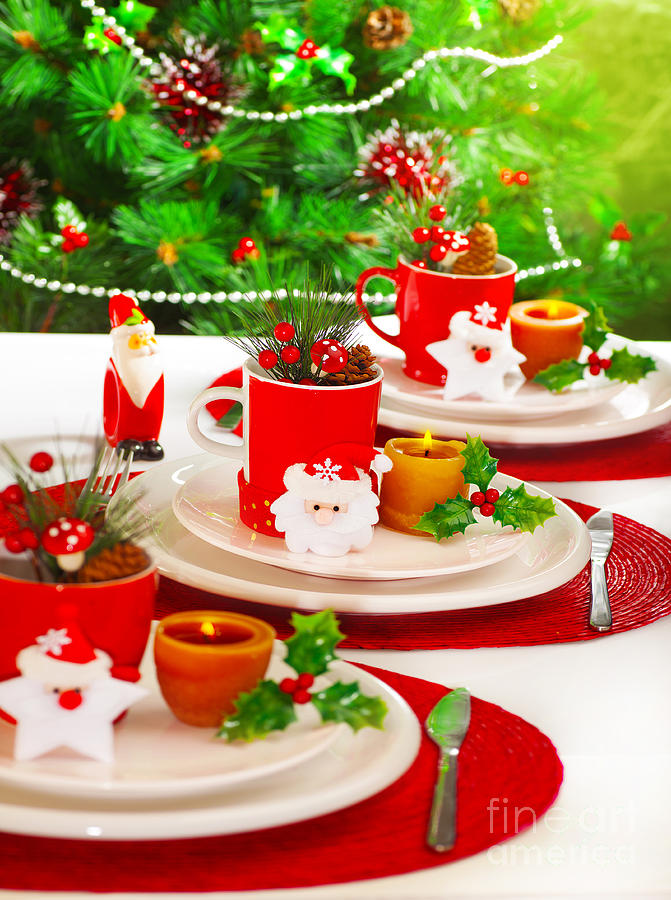 Festive Table Setting Photograph