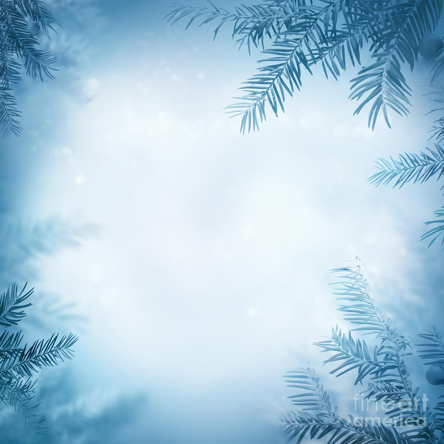 Festive Winter Background is a piece of digital artwork by Mythja ...
